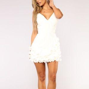White Ruffel Dress